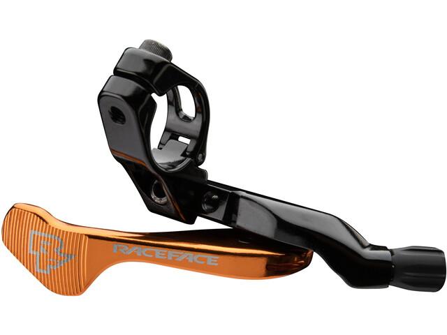 Race Face Turbine R 1X Lever for Remote Seatpost, negro/naranja